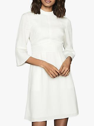 Reiss Cora Bell Sleeve Shift Dress, Ivory
