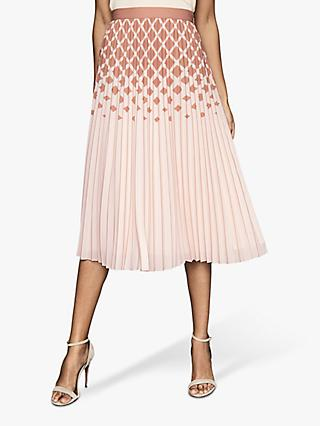 Reiss Elsa Diamond Ombre Midi Skirt