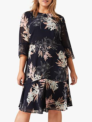 Studio 8 Aimee Floral Print Dress, Navy/Multi