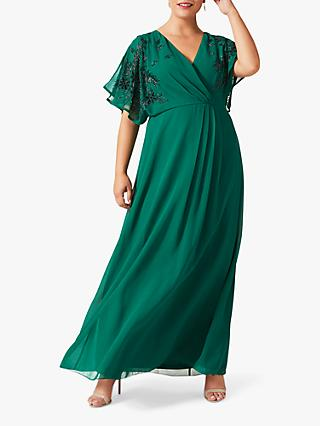 Studio 8 Tabitha Embroidered Maxi Dress, Emerald