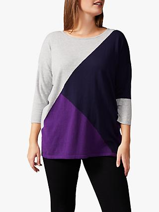 Studio 8 Kitty Colour Block Top, Purple/Multi