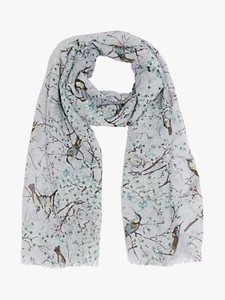 Oasis Blossom Birds Scarf, Multi