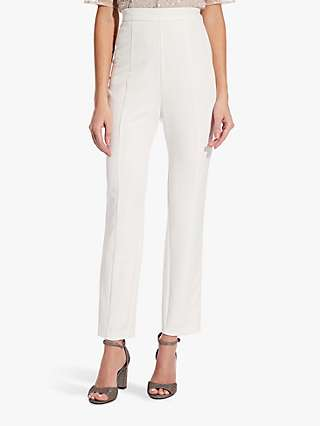 Adrianna Papell Crepe Slim Trousers, Ivory