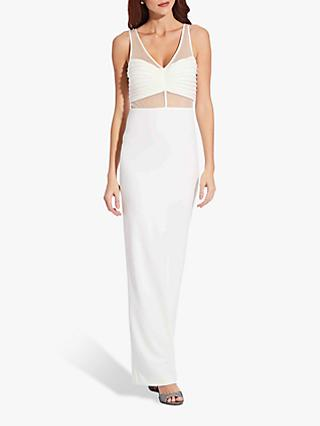 Adrianna Papell Illusion Crepe Dress, Ivory