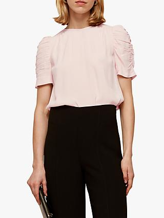 Whistles Nelly Ruched Sleeve Shell Top
