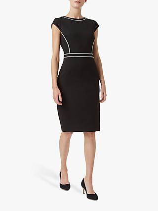 Hobbs Cordelia Dress, Black/Ivory