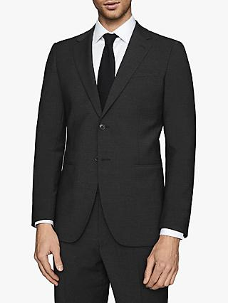 Reiss Hope Modern Fit Travel Suit Jacket, Black