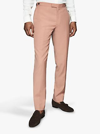 Reiss Exquisite Wool Blend Slim Fit Suit Trousers, Pink
