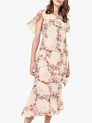 Oasis Floral Ruffle Dress, Multi