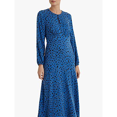 Fenn Wright Manson Flavie Spot Print Midi Dress, Blue/Black