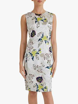 Fenn Wright Manson Petite Severine Silk Floral Dress, Champagne