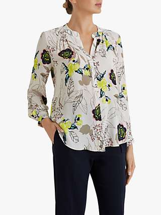 Fenn Wright Manson Petite Severine Floral Print Blouse, Champagne Blossom