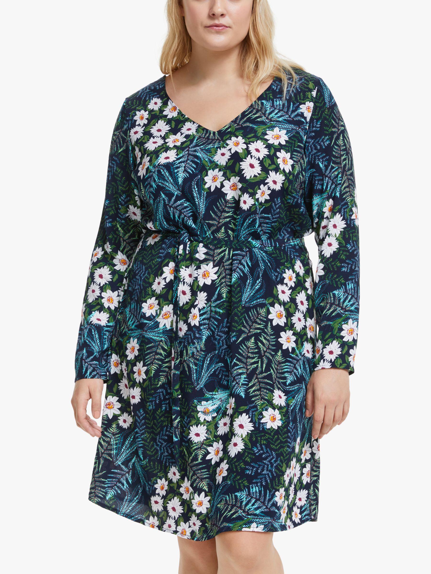 Junarose JUNAROSE Curve Karakeenan Floral Print Dress, Black