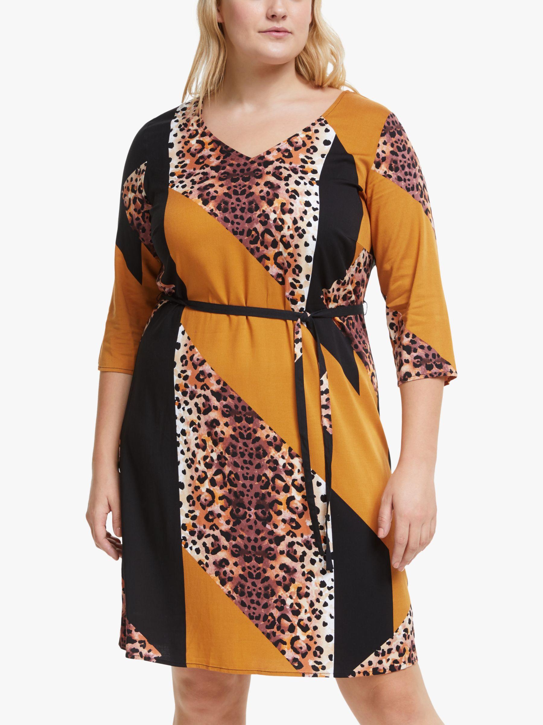 Junarose JUNAROSE Curve Koikeenan Print Mini Dress, Black