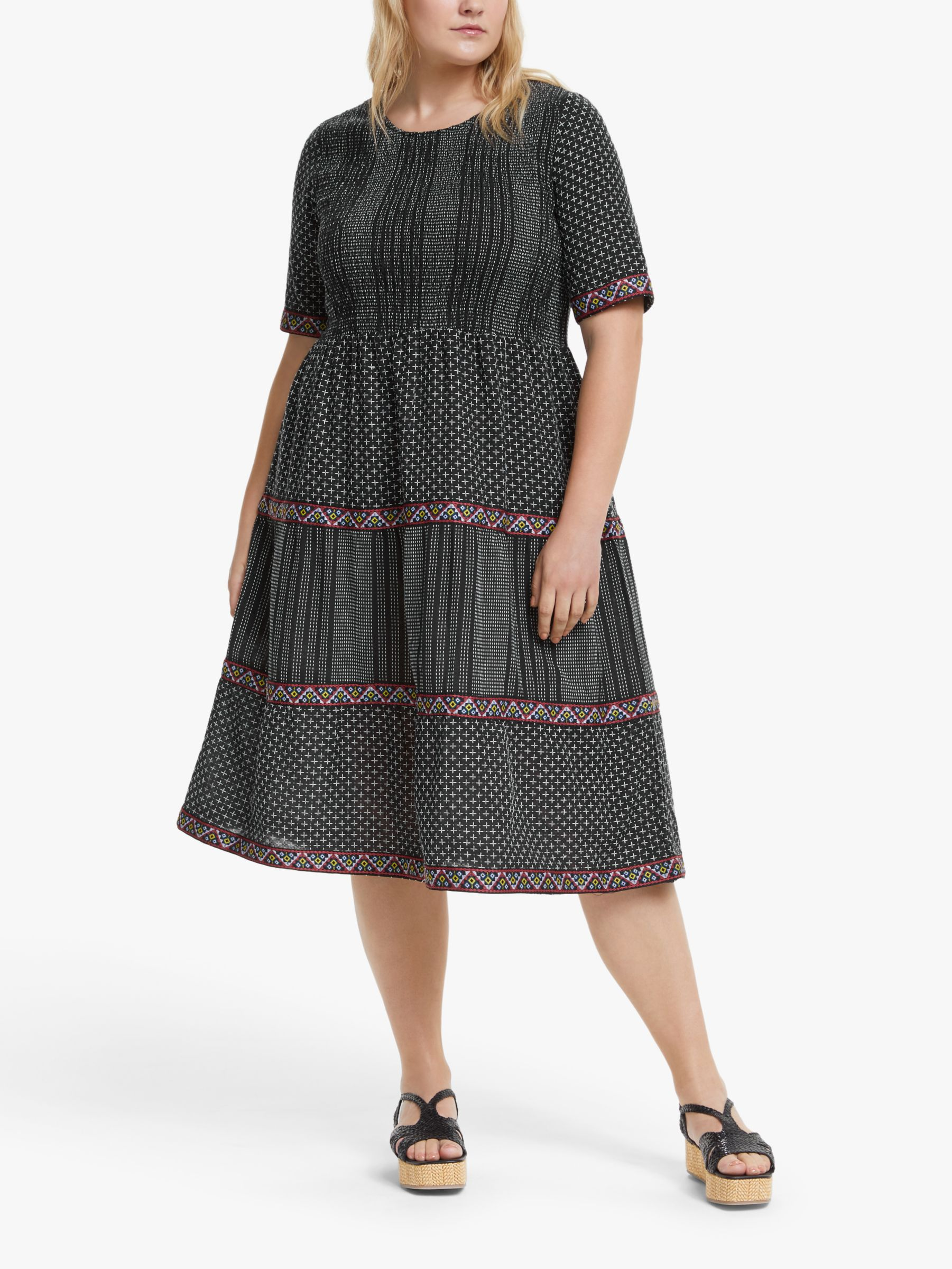 Junarose JUNAROSE Curve Jelis Midi Dress, Black