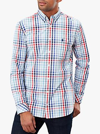 Joules Hewney Classic Fit Shirt, Red Blue Check