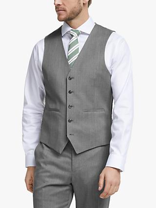 John Lewis & Partners Barberis Wool Suit Waistcoat, Light Grey