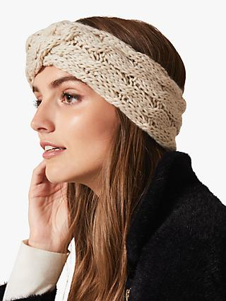 Phase Eight Verona Headband, Oatmeal