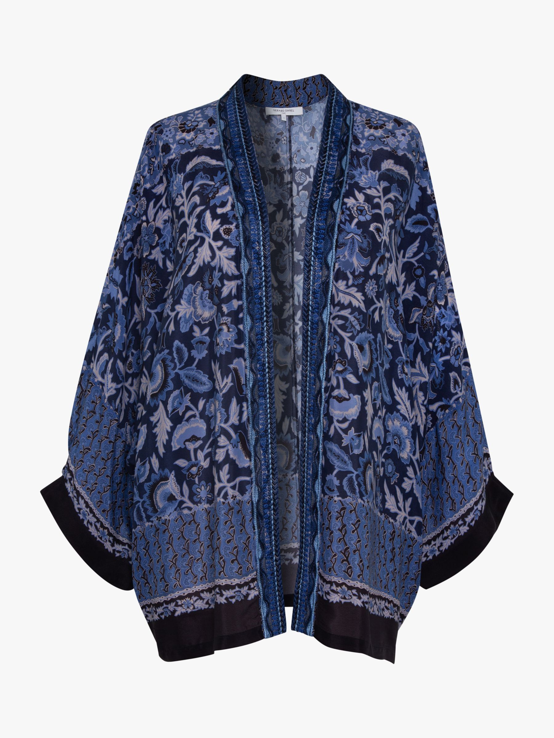 Gerard Darel Gerard Darel Andrea Floral Kimono Jacket, Blue