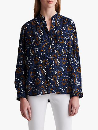 Gerard Darel Nateo Abstract Print Blouse, Blue