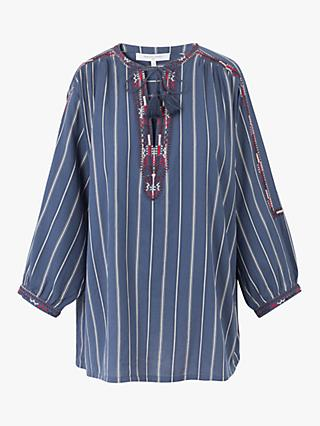 Gerard Darel Nathel Striped Tunic, Blue