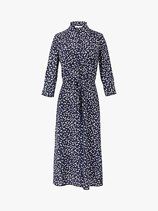 Gerard Darel Sander Silk Shirt Dress, Blue