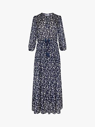 Gerard Darel Stany Silk Blend Dress, Blue