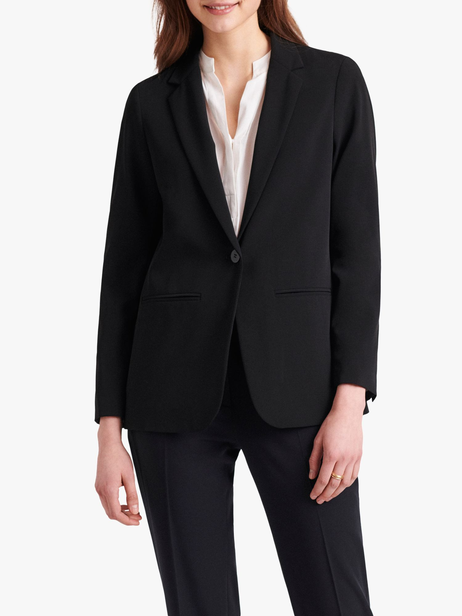 Gerard Darel Gerard Darel Alessa Single Breasted Blazer, Navy