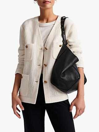 Gerard Darel Altea V Neck Cardigan, Ecru