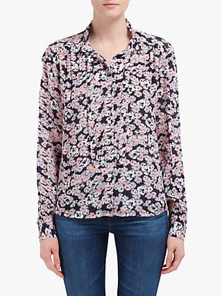 Lily and Lionel Devon Floral Print Shirt, Navy Blossom