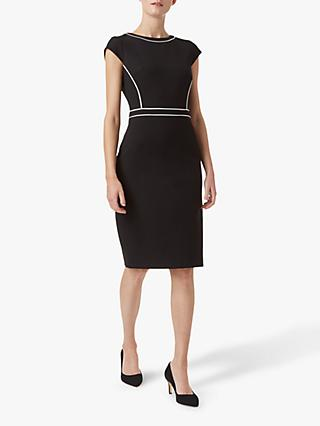 Hobbs Petite Cordelia Dress, Black