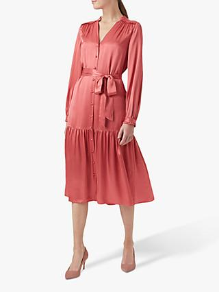 Hobbs Esther Satin Dress, Pink