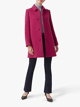 Hobbs Fia Coat, Raspberry