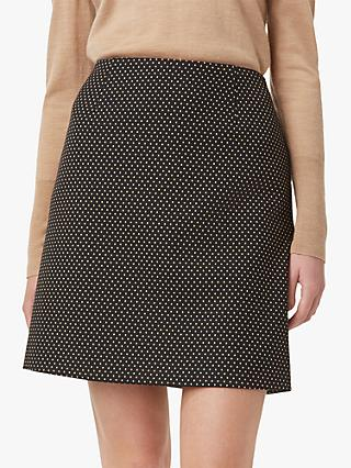 Hobbs Gracie A-Line Skirt, Black