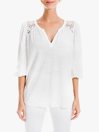 Max Studio 3/4 Sleeve Lace Insert Top