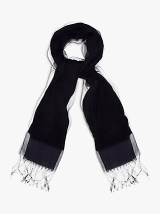 Phase Eight Silk Blend Scarf, Navy