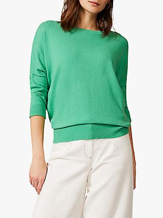Phase Eight Shanelle Knit Jumper, Green