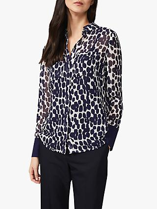 Phase Eight Tanjina Smudge Print Blouse