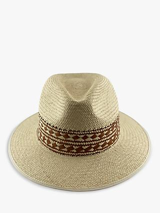 Christys' Braided Band Summer Panama Hat, Neutral/Tan