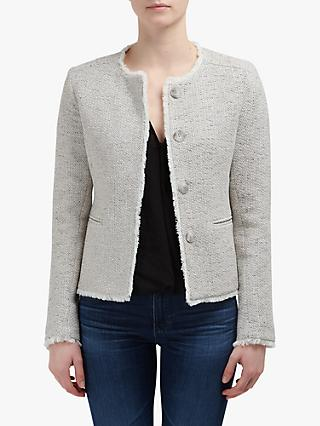 Helene For Denim Wardrobe Judy Tweed Jacket, Grey