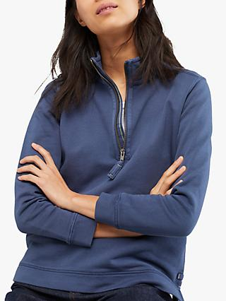 White Stuff Pacific Half Zip Sweatshirt