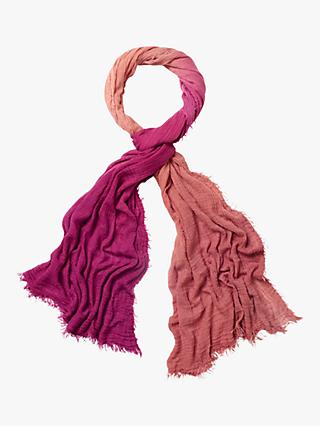 White Stuff Dip Dye Dreaming Away Scarf, Pink