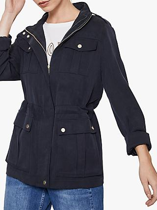 Mint Velvet Star Pocket Jacket, Navy