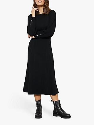 Mint Velvet Knit Midi Dress, Black