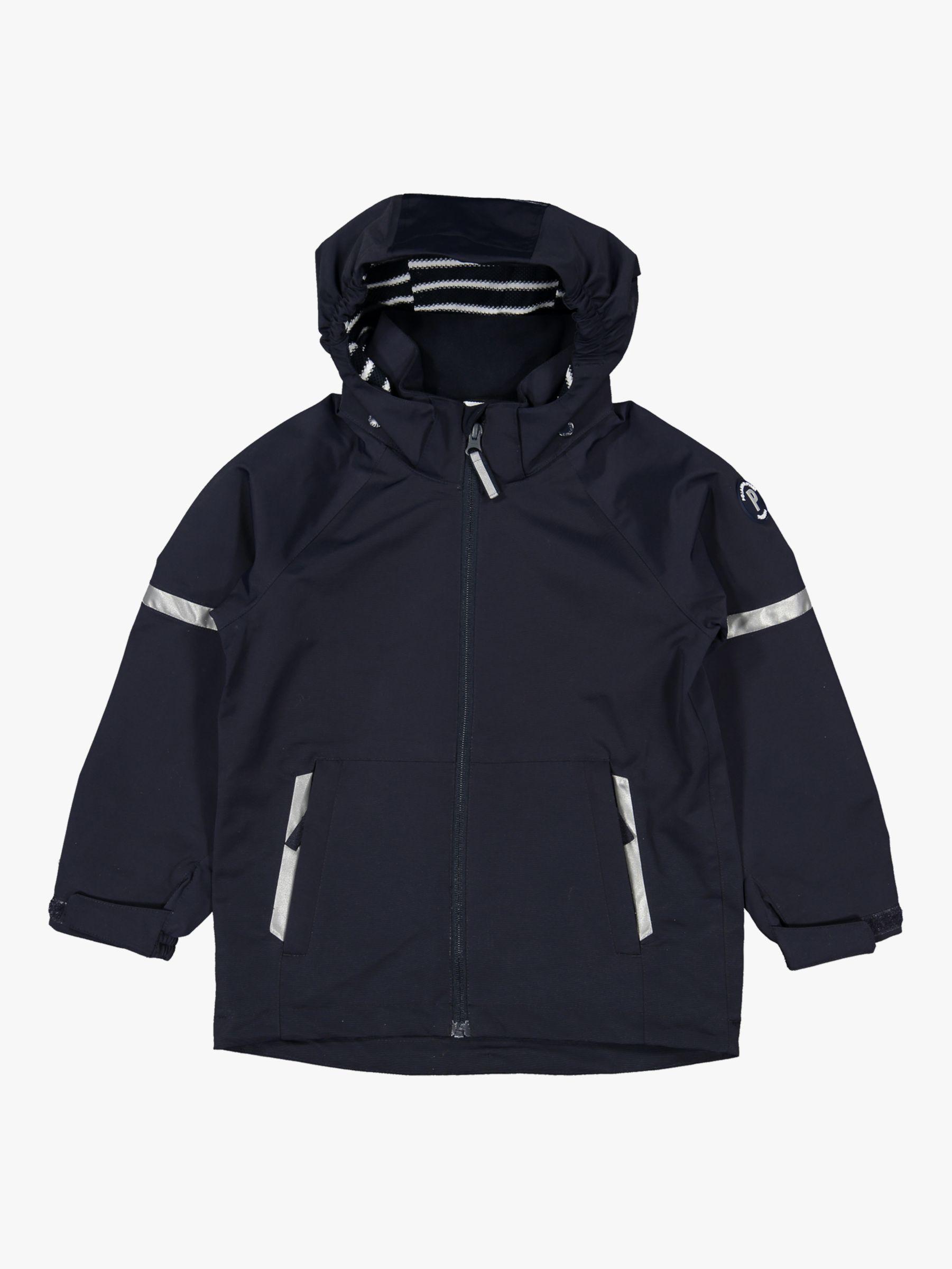 Polarn O. Pyret Children's Waterproof Shell Coat, Dark Blue