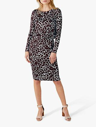 Pure Collection Jersey Blouson Dress, Giraffe Print