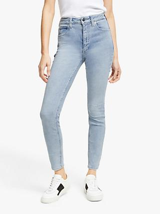 Calvin Klein High Rise Skinny Jeans, Bleach Blue