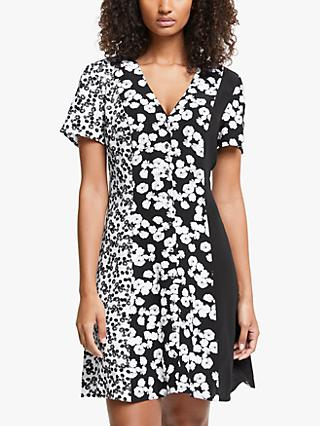 Calvin Klein Jeans Floral Colour Block Dress, Black