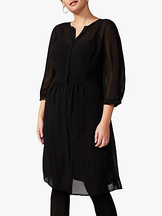 Studio 8 Juliet Pin Tuck Dress, Black