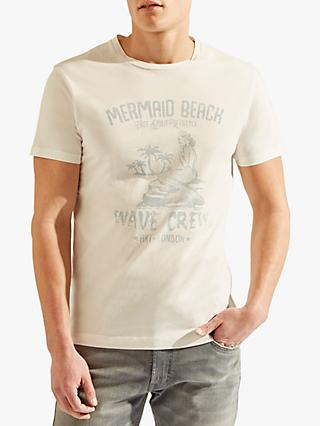 HKT Mermaid Beach Crew Neck T-Shirt, White